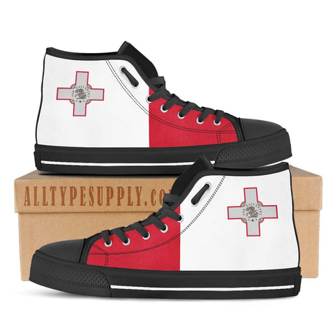 Malta National Flag - High & Low Top Canvas Shoes
