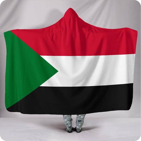 Sudan National Flag - Hooded Blanket