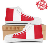 Peru National Flag - High & Low Top Canvas Shoes - EXPRESS DELIVERY!