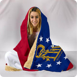 Georgia State Flag - Hooded Blanket