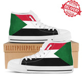 Sudan National Flag - High & Low Top Canvas Shoes - EXPRESS DELIVERY!