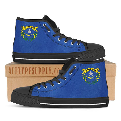 Nevada State Flag - High & Low Top Canvas Shoes
