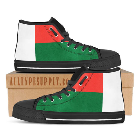 Madagascar National Flag - High & Low Top Canvas Shoes