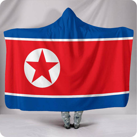North Korea National Flag - Hooded Blanket