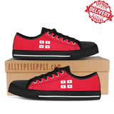Georgia v2 National Flag - High & Low Top Canvas Shoes - EXPRESS DELIVERY!