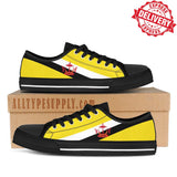 Brunei National Flag - High & Low Top Canvas Shoes - EXPRESS DELIVERY!