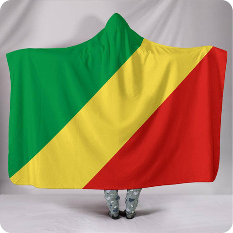 Congo National Flag - Hooded Blanket