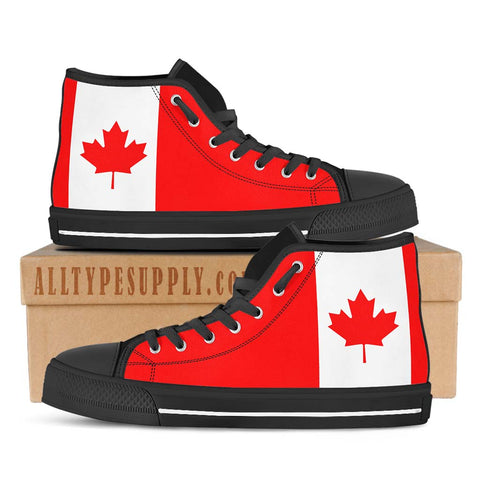 Canada National Flag - High & Low Top Canvas Shoes