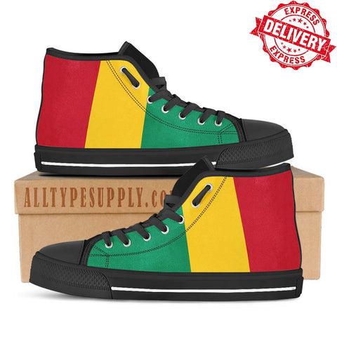 Guinea National Flag - High & Low Top Canvas Shoes - EXPRESS DELIVERY!