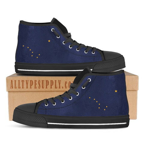 Alaska State Flag - High & Low Top Canvas Shoes