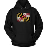 Maryland State Flag - Black Hoodie
