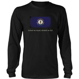 Kentucky State Flag with Motto - Black T-Shirt