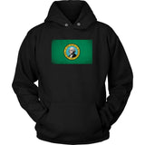 Washington State Flag - Black Hoodie