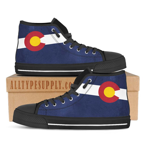 Colorado State Flag - High & Low Top Canvas Shoes