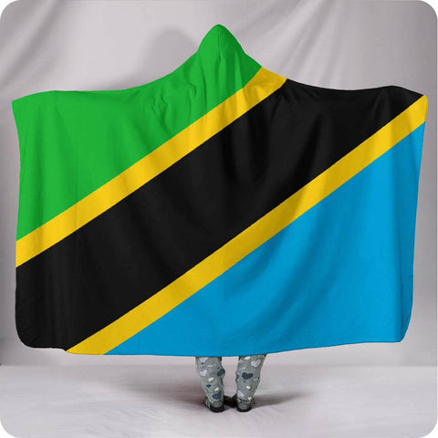 Tanzania National Flag - Hooded Blanket