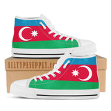Azerbaijan National Flag - High & Low Top Canvas Shoes