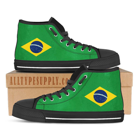 Brazil National Flag - High & Low Top Canvas Shoes