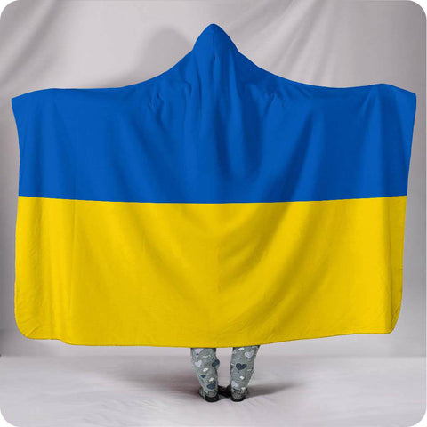 Ukraine National Flag - Hooded Blanket