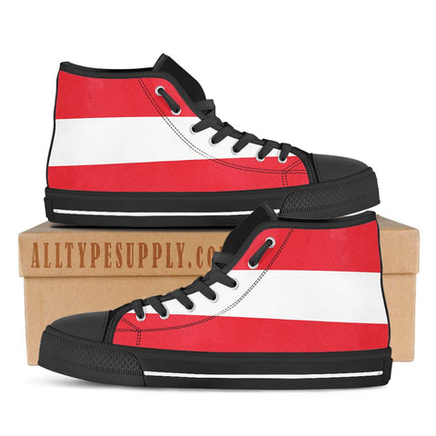 Austria National Flag - High & Low Top Canvas Shoes