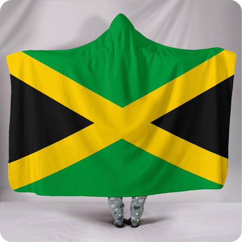 Jamaica National Flag - Hooded Blanket