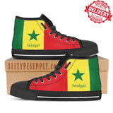 Senegal National Flag - High & Low Top Canvas Shoes - EXPRESS DELIVERY!