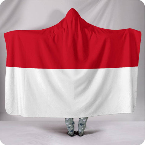Indonesia National Flag - Hooded Blanket
