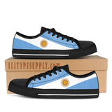 Argentina National Flag - High & Low Top Canvas Shoes