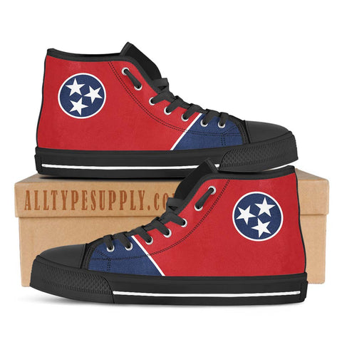 Tennessee State Flag - High & Low Top Canvas Shoes