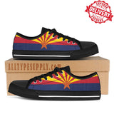 Arizona State Flag - High & Low Top Canvas Shoes - EXPRESS DELIVERY!