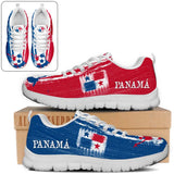 Panama National Flag [Soccer Paint Brush] - Running Sneakers