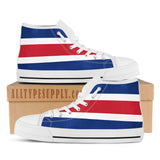 Costa Rica National Flag - High & Low Top Canvas Shoes