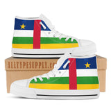 Central Africa National Flag - High & Low Top Canvas Shoes