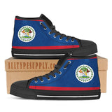 Belize National Flag - High & Low Top Canvas Shoes