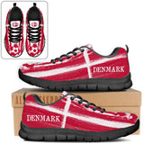 Denmark National Flag [Soccer Paint Brush] - Running Sneakers