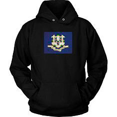 Connecticut State Flag - Black Hoodie