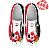 Egypt National Flag [Soccer Paint Brush] - Kid's Canvas Slip-On Shoes - EXPRESS DELIVERY!