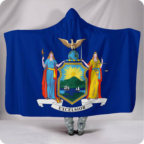 New York State Flag - Hooded Blanket