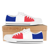 France National Flag - High & Low Top Canvas Shoes