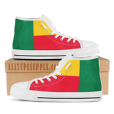 Benin National Flag - High & Low Top Canvas Shoes