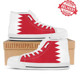Bahrain National Flag - High & Low Top Canvas Shoes - EXPRESS DELIVERY!