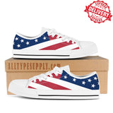 United States National Flag Old Glory - High & Low Top Canvas Shoes - EXPRESS DELIVERY!