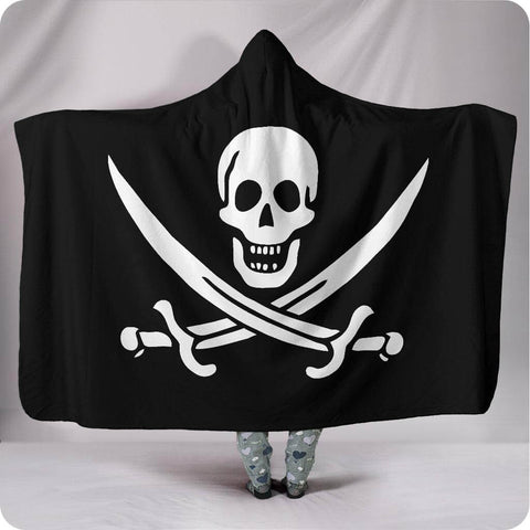 Calico Jack Pirate Flag - Hooded Blanket
