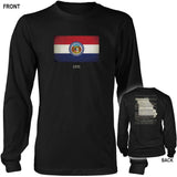 Missouri State Flag and Constitution - Black T-Shirt