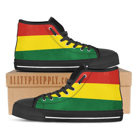 Bolivia National Flag - High & Low Top Canvas Shoes