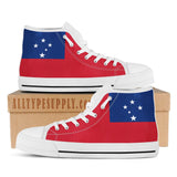 Samoa National Flag - High & Low Top Canvas Shoes