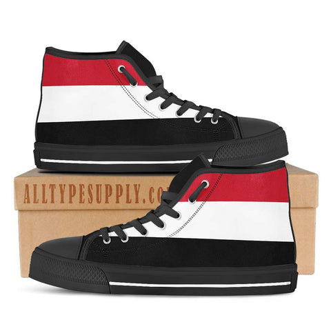 Yemen National Flag - High & Low Top Canvas Shoes