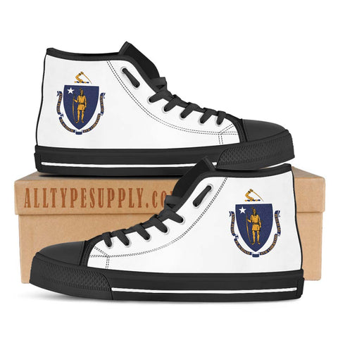 Massachusetts State Flag - High & Low Top Canvas Shoes