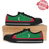 Maldives National Flag - High & Low Top Canvas Shoes - EXPRESS DELIVERY!