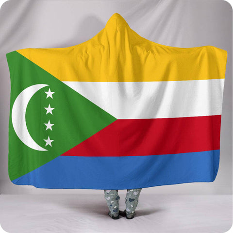 Comoros National Flag - Hooded Blanket