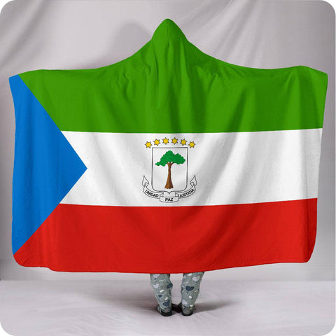 Equatorial Guinea National Flag - Hooded Blanket